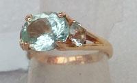 № 813, Аквамарин кольцо