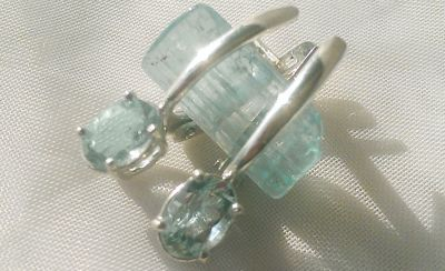 aquamarine earrings 457